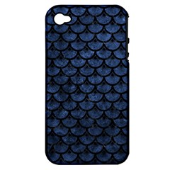 SCA3 BK-MRBL BL-STONE (R) Apple iPhone 4/4S Hardshell Case (PC+Silicone)