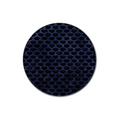 SCA3 BK-MRBL BL-STONE Rubber Coaster (Round)