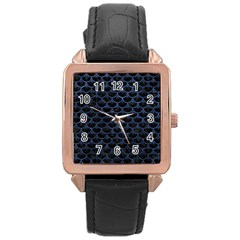 SCA3 BK-MRBL BL-STONE Rose Gold Leather Watch