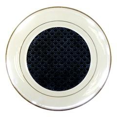 SCA2 BK-MRBL BL-STONE Porcelain Plates