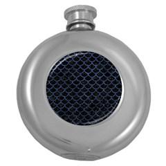 SCA1 BK-MRBL BL-STONE Round Hip Flask (5 oz)