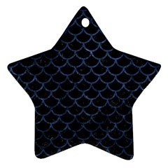 SCA1 BK-MRBL BL-STONE Star Ornament (Two Sides)
