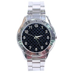 SCA1 BK-MRBL BL-STONE Stainless Steel Analogue Watch