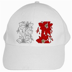 Poinsettia Flower Coloring Page White Cap