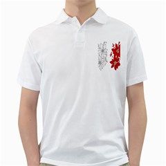 Poinsettia Flower Coloring Page Golf Shirts