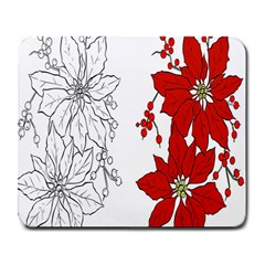 Poinsettia Flower Coloring Page Large Mousepads