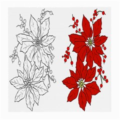 Poinsettia Flower Coloring Page Medium Glasses Cloth (2 Side)