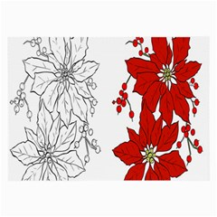 Poinsettia Flower Coloring Page Large Glasses Cloth (2 Side)