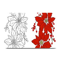 Poinsettia Flower Coloring Page Plate Mats