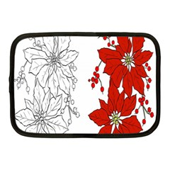 Poinsettia Flower Coloring Page Netbook Case (Medium)