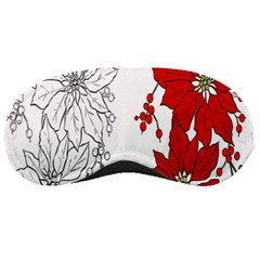 Poinsettia Flower Coloring Page Sleeping Masks
