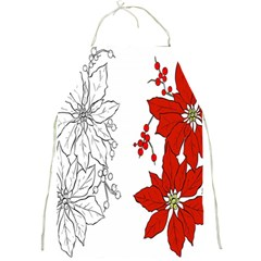 Poinsettia Flower Coloring Page Full Print Aprons