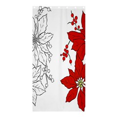 Poinsettia Flower Coloring Page Shower Curtain 36  X 72  (stall)