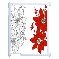 Poinsettia Flower Coloring Page Apple iPad 2 Case (White)