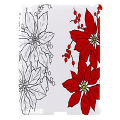 Poinsettia Flower Coloring Page Apple iPad 3/4 Hardshell Case (Compatible with Smart Cover)
