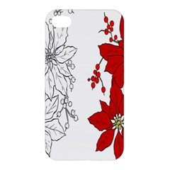 Poinsettia Flower Coloring Page Apple Iphone 4/4s Premium Hardshell Case