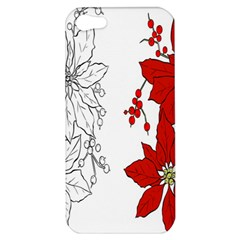 Poinsettia Flower Coloring Page Apple iPhone 5 Hardshell Case