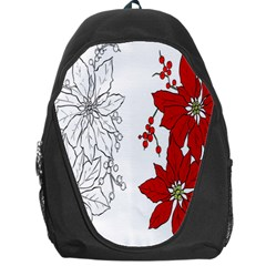 Poinsettia Flower Coloring Page Backpack Bag