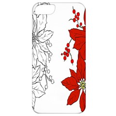 Poinsettia Flower Coloring Page Apple iPhone 5 Classic Hardshell Case