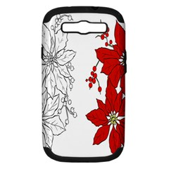Poinsettia Flower Coloring Page Samsung Galaxy S Iii Hardshell Case (pc+silicone)