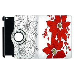 Poinsettia Flower Coloring Page Apple iPad 2 Flip 360 Case