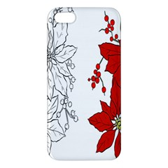 Poinsettia Flower Coloring Page Apple iPhone 5 Premium Hardshell Case