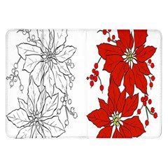 Poinsettia Flower Coloring Page Samsung Galaxy Tab 8.9  P7300 Flip Case