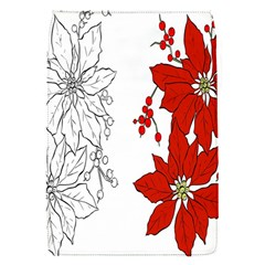 Poinsettia Flower Coloring Page Flap Covers (S)