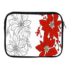 Poinsettia Flower Coloring Page Apple iPad 2/3/4 Zipper Cases
