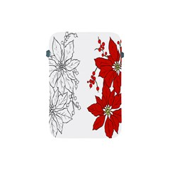 Poinsettia Flower Coloring Page Apple iPad Mini Protective Soft Cases