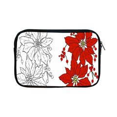 Poinsettia Flower Coloring Page Apple Ipad Mini Zipper Cases