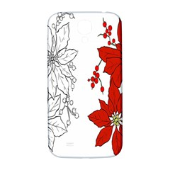 Poinsettia Flower Coloring Page Samsung Galaxy S4 I9500/i9505  Hardshell Back Case