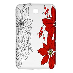 Poinsettia Flower Coloring Page Samsung Galaxy Tab 3 (7 ) P3200 Hardshell Case