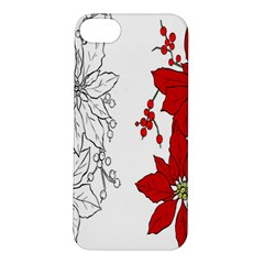 Poinsettia Flower Coloring Page Apple iPhone 5S/ SE Hardshell Case
