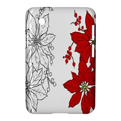 Poinsettia Flower Coloring Page Samsung Galaxy Tab 2 (7 ) P3100 Hardshell Case