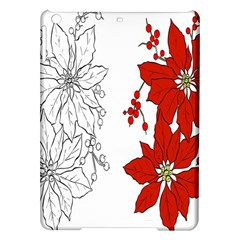 Poinsettia Flower Coloring Page iPad Air Hardshell Cases