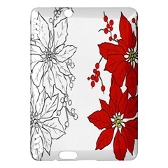 Poinsettia Flower Coloring Page Kindle Fire HDX Hardshell Case