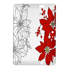 Poinsettia Flower Coloring Page Kindle Fire HDX 8.9  Hardshell Case