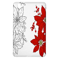 Poinsettia Flower Coloring Page Samsung Galaxy Tab Pro 8.4 Hardshell Case