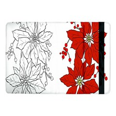 Poinsettia Flower Coloring Page Samsung Galaxy Tab Pro 10.1  Flip Case