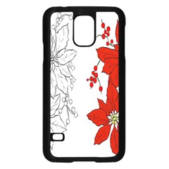 Poinsettia Flower Coloring Page Samsung Galaxy S5 Case (Black)