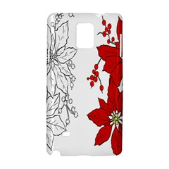 Poinsettia Flower Coloring Page Samsung Galaxy Note 4 Hardshell Case