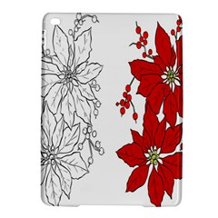 Poinsettia Flower Coloring Page iPad Air 2 Hardshell Cases