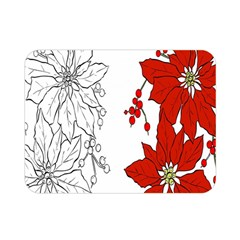 Poinsettia Flower Coloring Page Double Sided Flano Blanket (mini)
