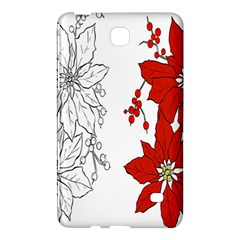Poinsettia Flower Coloring Page Samsung Galaxy Tab 4 (7 ) Hardshell Case