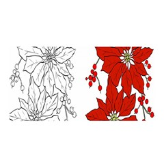 Poinsettia Flower Coloring Page Satin Wrap