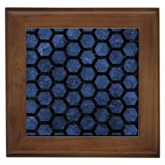 HXG2 BK-MRBL BL-STONE (R) Framed Tiles
