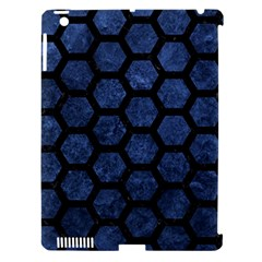 HXG2 BK-MRBL BL-STONE (R) Apple iPad 3/4 Hardshell Case (Compatible with Smart Cover)