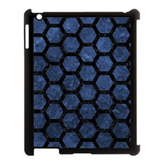 HXG2 BK-MRBL BL-STONE (R) Apple iPad 3/4 Case (Black)