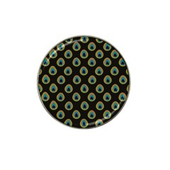 Peacock Inspired Background Hat Clip Ball Marker